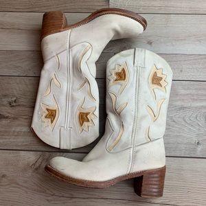 Frye | White Cowboy Boots | Size 9